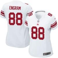 Women's Nike New York Giants #88 Evan Engram White Stitched NFL Elite Jersey