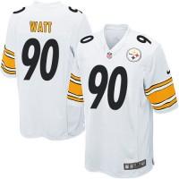 Youth Nike Pittsburgh Steelers #90 T. J. Watt White Stitched NFL Elite Jersey