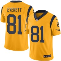 Nike Los Angeles Rams #81 Gerald Everett Gold Men's Stitched NFL Limited Rush Jersey