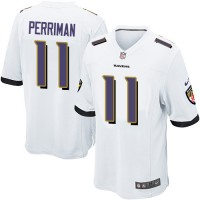 Youth Nike Baltimore Ravens #11 Breshad Perriman White Stitched NFL New Elite Jersey