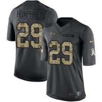 Youth Nike Baltimore Ravens #29 Marlon Humphrey Black Stitched NFL Limited 2016 Salute to Service Jersey