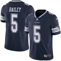 Nike Dallas Cowboys #5 Dan Bailey Navy Blue Team Color Men's Stitched NFL Vapor Untouchable Limited Jersey
