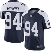 Nike Dallas Cowboys #94 Randy Gregory Navy Blue Thanksgiving Men's Stitched NFL Vapor Untouchable Limited Throwback Jersey