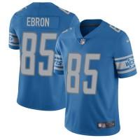 Nike Detroit Lions #85 Eric Ebron Blue Team Color Men's Stitched NFL Vapor Untouchable Limited Jersey