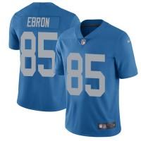 Nike Detroit Lions #85 Eric Ebron Blue Throwback Men's Stitched NFL Vapor Untouchable Limited Jersey