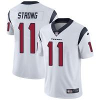 Nike Houston Texans #11 Jaelen Strong White Men's Stitched NFL Vapor Untouchable Limited Jersey