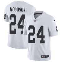 Nike Oakland Raiders #24 Charles Woodson White Men's Stitched NFL Vapor Untouchable Limited Jersey