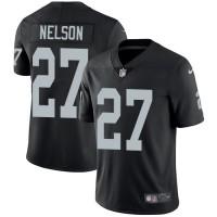 Nike Oakland Raiders #27 Reggie Nelson Black Team Color Men's Stitched NFL Vapor Untouchable Limited Jersey