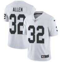 Nike Oakland Raiders #32 Marcus Allen White Men's Stitched NFL Vapor Untouchable Limited Jersey
