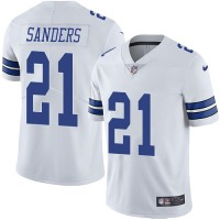 Youth Nike Dallas Cowboys #21 Deion Sanders White Stitched NFL Vapor Untouchable Limited Jersey