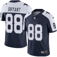 Youth Nike Dallas Cowboys #88 Dez Bryant Navy Blue Thanksgiving Stitched NFL Vapor Untouchable Limited Throwback Jersey