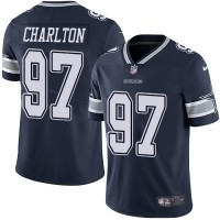 Youth Nike Dallas Cowboys #97 Taco Charlton Navy Blue Team Color Stitched NFL Vapor Untouchable Limited Jersey