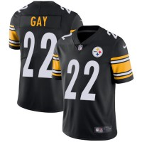 Youth Nike Pittsburgh Steelers #22 William Gay Black Team Color Stitched NFL Vapor Untouchable Limited Jersey