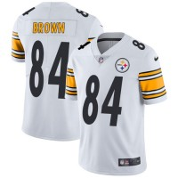 Youth Nike Pittsburgh Steelers #84 Antonio Brown White Stitched NFL Vapor Untouchable Limited Jersey