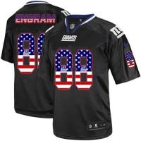 Nike New York Giants #88 Evan Engram Black Men's Stitched NFL Elite USA Flag Fashion Jersey