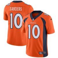 Nike Denver Broncos #10 Emmanuel Sanders Orange Team Color Men's Stitched NFL Vapor Untouchable Limited Jersey