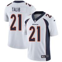 Nike Denver Broncos #21 Aqib Talib White Men's Stitched NFL Vapor Untouchable Limited Jersey