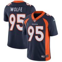 Nike Denver Broncos #95 Derek Wolfe Navy Blue Alternate Men's Stitched NFL Vapor Untouchable Limited Jersey