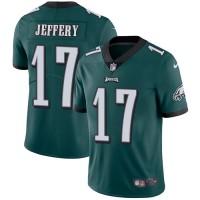 Nike Philadelphia Eagles #17 Alshon Jeffery Midnight Green Team Color Men's Stitched NFL Vapor Untouchable Limited Jersey