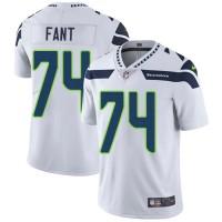 Nike Seattle Seahawks #74 George Fant White Men's Stitched NFL Vapor Untouchable Limited Jersey
