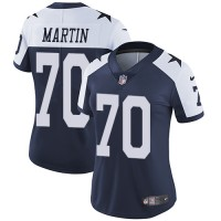 Women's Nike Dallas Cowboys #70 Zack Martin Navy Blue Thanksgiving Stitched NFL Vapor Untouchable Limited Throwback Jersey