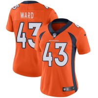 Women's Nike Denver Broncos #43 T.J. Ward Orange Team Color Stitched NFL Vapor Untouchable Limited Jersey