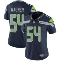 Women's Nike Seattle Seahawks #54 Bobby Wagner Steel Blue Team Color Stitched NFL Vapor Untouchable Limited Jersey