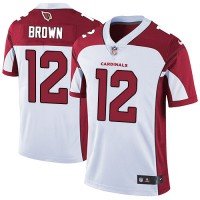 Nike Arizona Cardinals #12 John Brown White Men's Stitched NFL Vapor Untouchable Limited Jersey