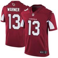 Nike Arizona Cardinals #13 Kurt Warner Red Team Color Men's Stitched NFL Vapor Untouchable Limited Jersey