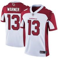 Nike Arizona Cardinals #13 Kurt Warner White Men's Stitched NFL Vapor Untouchable Limited Jersey