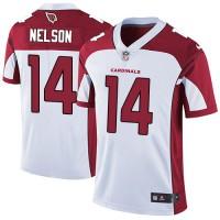 Nike Arizona Cardinals #14 J.J. Nelson White Men's Stitched NFL Vapor Untouchable Limited Jersey