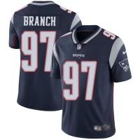 Nike New England Patriots #97 Alan Branch Navy Blue Team Color Men's Stitched NFL Vapor Untouchable Limited Jersey