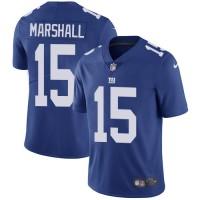 Nike New York Giants #15 Brandon Marshall Royal Blue Team Color Men's Stitched NFL Vapor Untouchable Limited Jersey