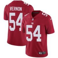 Nike New York Giants #54 Olivier Vernon Red Alternate Men's Stitched NFL Vapor Untouchable Limited Jersey