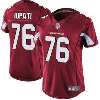 Women's Nike Arizona Cardinals #76 Mike Iupati Red Team Color Stitched NFL Vapor Untouchable Limited Jersey