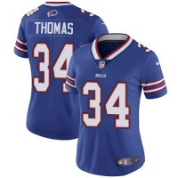 Women's Nike Buffalo Bills #34 Thurman Thomas Royal Blue Team Color Stitched NFL Vapor Untouchable Limited Jersey