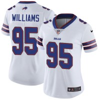 Women's Nike Buffalo Bills #95 Kyle Williams White Stitched NFL Vapor Untouchable Limited Jersey
