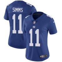 Women's Nike New York Giants #11 Phil Simms Royal Blue Team Color Stitched NFL Vapor Untouchable Limited Jersey