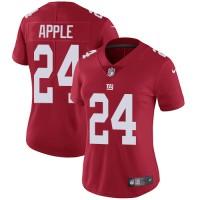 Women's Nike New York Giants #24 Eli Apple Red Alternate Stitched NFL Vapor Untouchable Limited Jersey