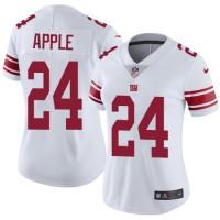 Women's Nike New York Giants #24 Eli Apple White Stitched NFL Vapor Untouchable Limited Jersey