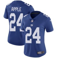 Women's Nike New York Giants #24 Eli Apple Royal Blue Team Color Stitched NFL Vapor Untouchable Limited Jersey
