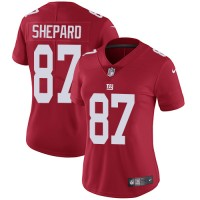 Women's Nike New York Giants #87 Sterling Shepard Red Alternate Stitched NFL Vapor Untouchable Limited Jersey