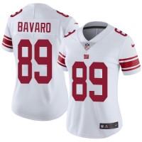 Women's Nike New York Giants #89 Mark Bavaro White Stitched NFL Vapor Untouchable Limited Jersey