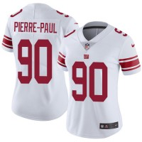 Women's Nike New York Giants #90 Jason Pierre-Paul White Stitched NFL Vapor Untouchable Limited Jersey