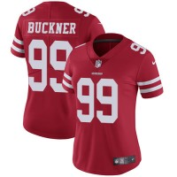 Women's Nike San Francisco 49ers #99 DeForest Buckner Red Team Color Stitched NFL Vapor Untouchable Limited Jersey