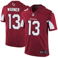 Youth Nike Arizona Cardinals #13 Kurt Warner Red Team Color Stitched NFL Vapor Untouchable Limited Jersey