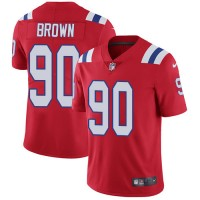 Youth Nike New England Patriots #90 Malcom Brown Red Alternate Stitched NFL Vapor Untouchable Limited Jersey