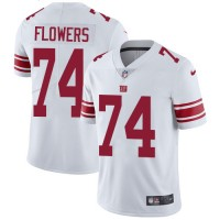 Youth Nike New York Giants #74 Ereck Flowers White Stitched NFL Vapor Untouchable Limited Jersey