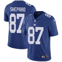 Youth Nike New York Giants #87 Sterling Shepard Royal Blue Team Color Stitched NFL Vapor Untouchable Limited Jersey