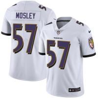 Nike Baltimore Ravens #57 C.J. Mosley White Men's Stitched NFL Vapor Untouchable Limited Jersey